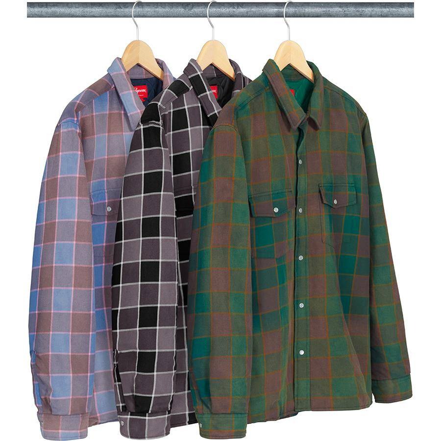 Supreme Quilted Faded Plaid Shirt
