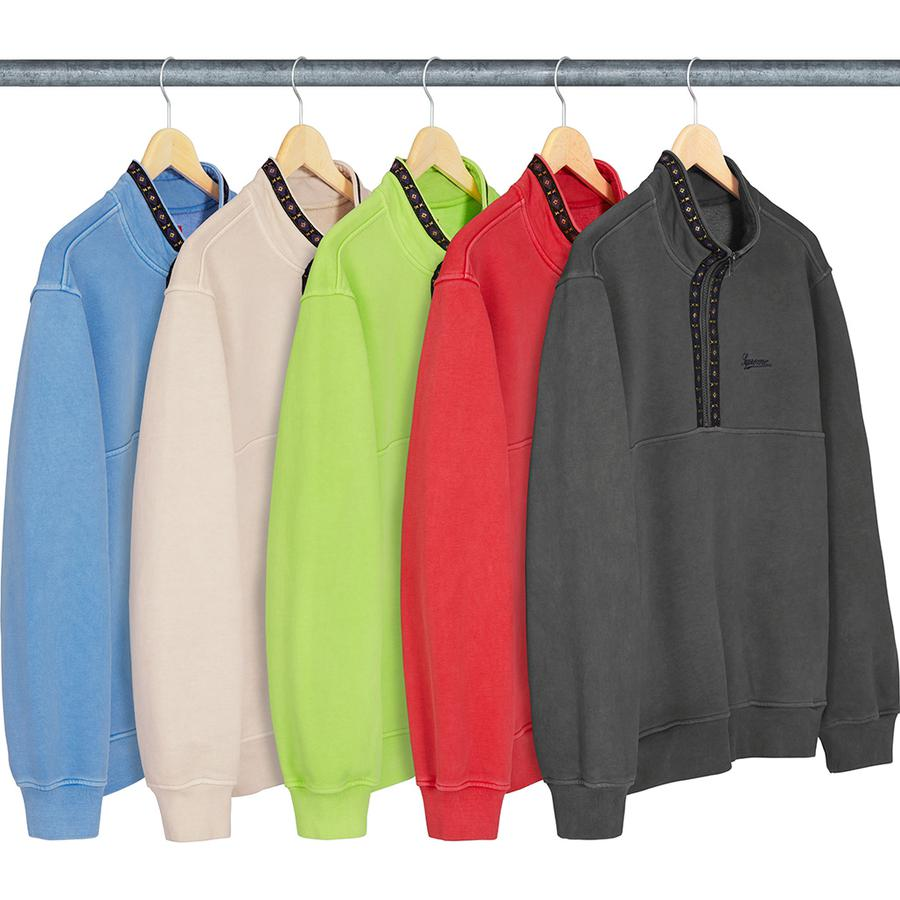 Supreme Overdyed Half Zip Sweatshirt