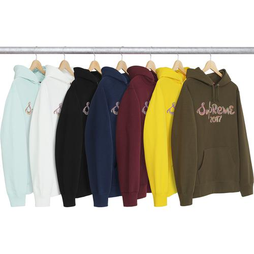 Embroidered Brush Logo Hooded Sweatshirt