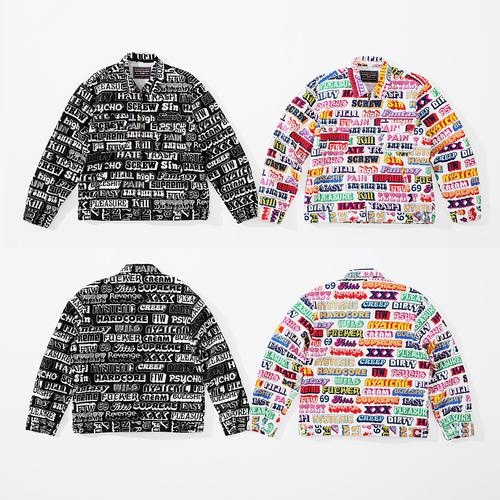 Supreme/HYSTERIC GLAMOUR Text Work Jacket