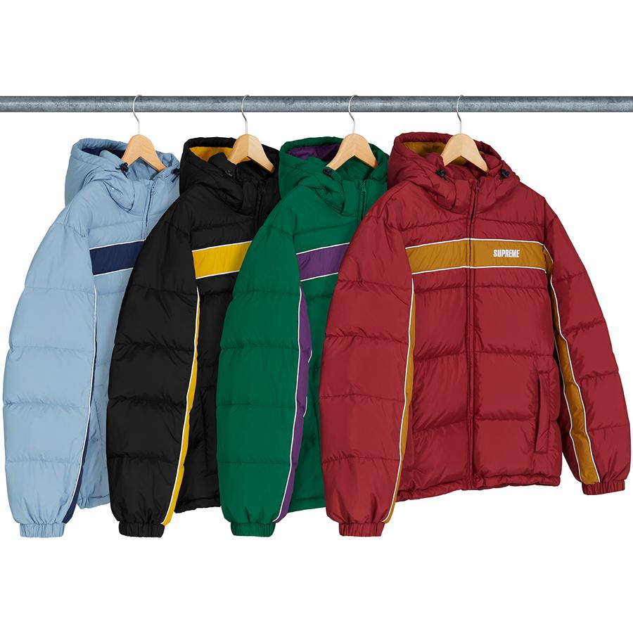 Supreme Stripe Panel Down Jacket