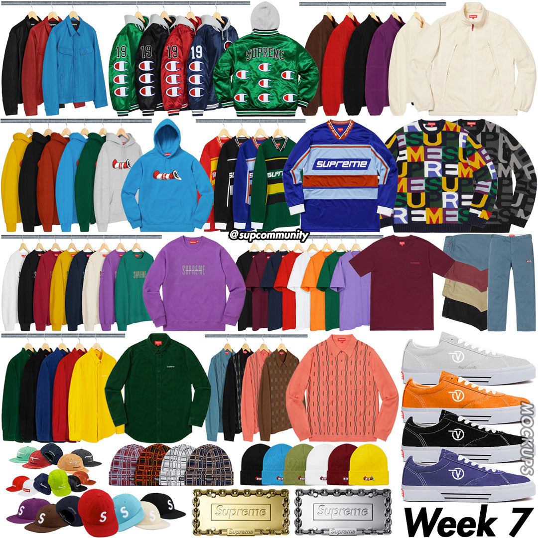 Supreme Week 7 Droplist and Retail Prices