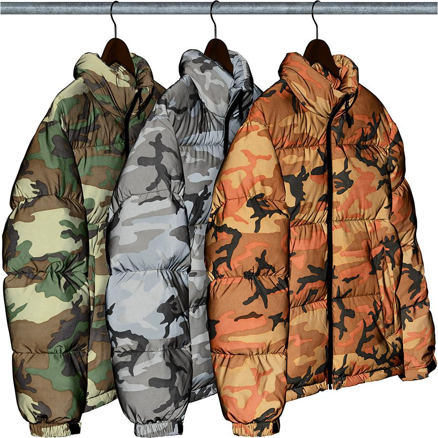 Supreme Reflective Camo Down Jacket