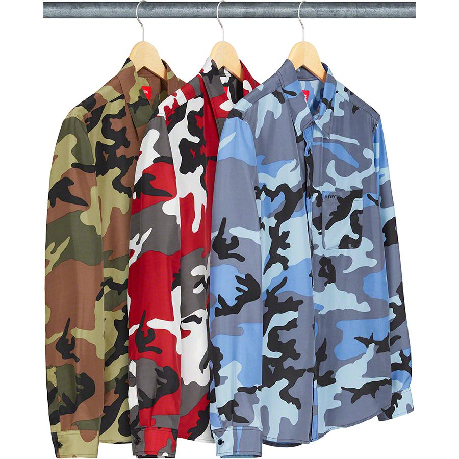 Supreme Silk Camo Shirt