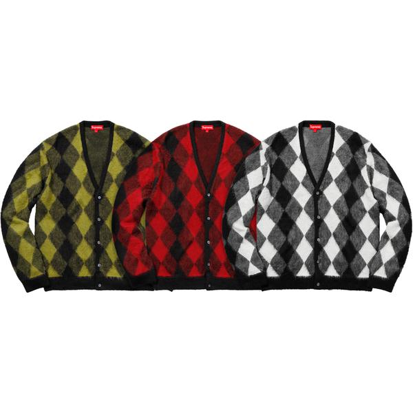Supreme Brushed Argyle Cardigan