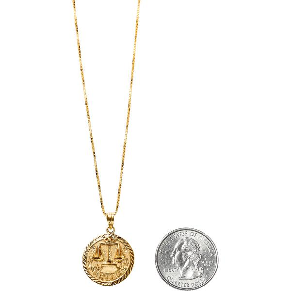 Justice Gold Pendant Supreme SS18