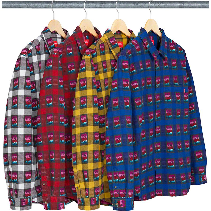 Supreme Rose Buffalo Plaid Shirt