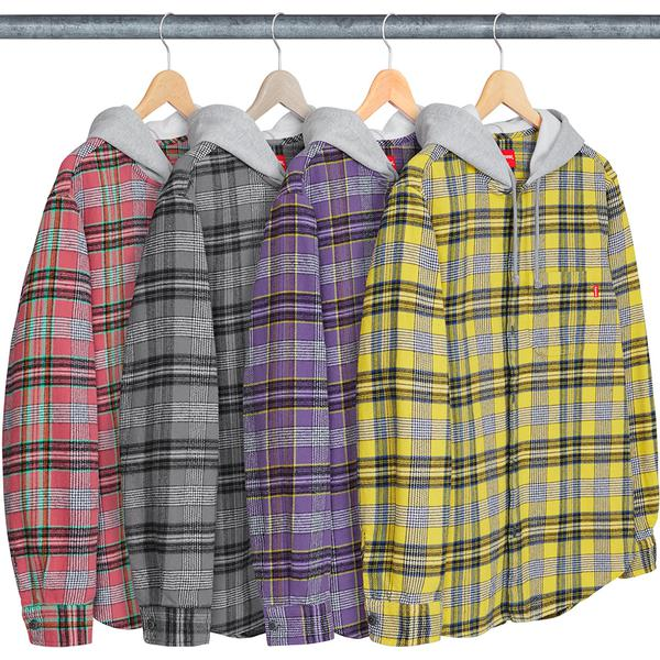 Supreme Hooded Flannel Shirt