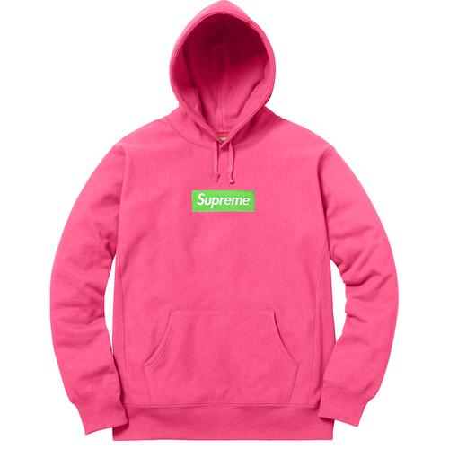 Box Logo Hooded Sweatshirt (Pink / Red)