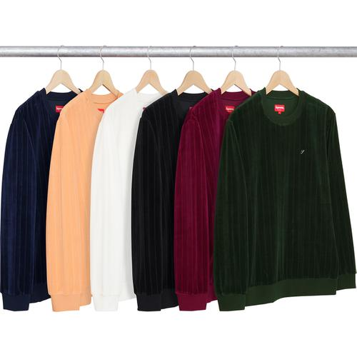 ribbed velour crewneck