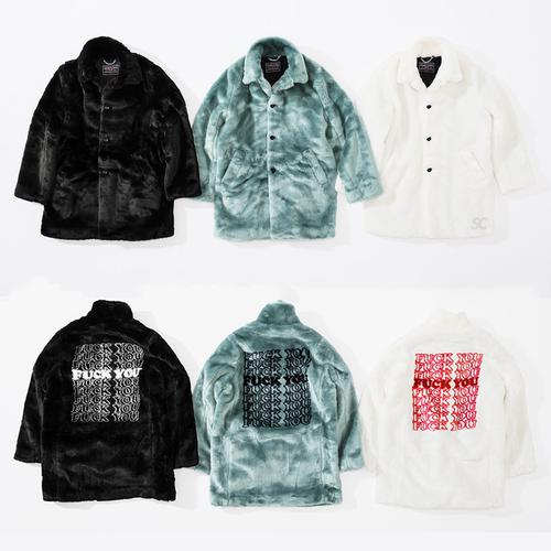 Supreme/HYSTERIC GLAMOUR Fuck You Faux Fur Coat