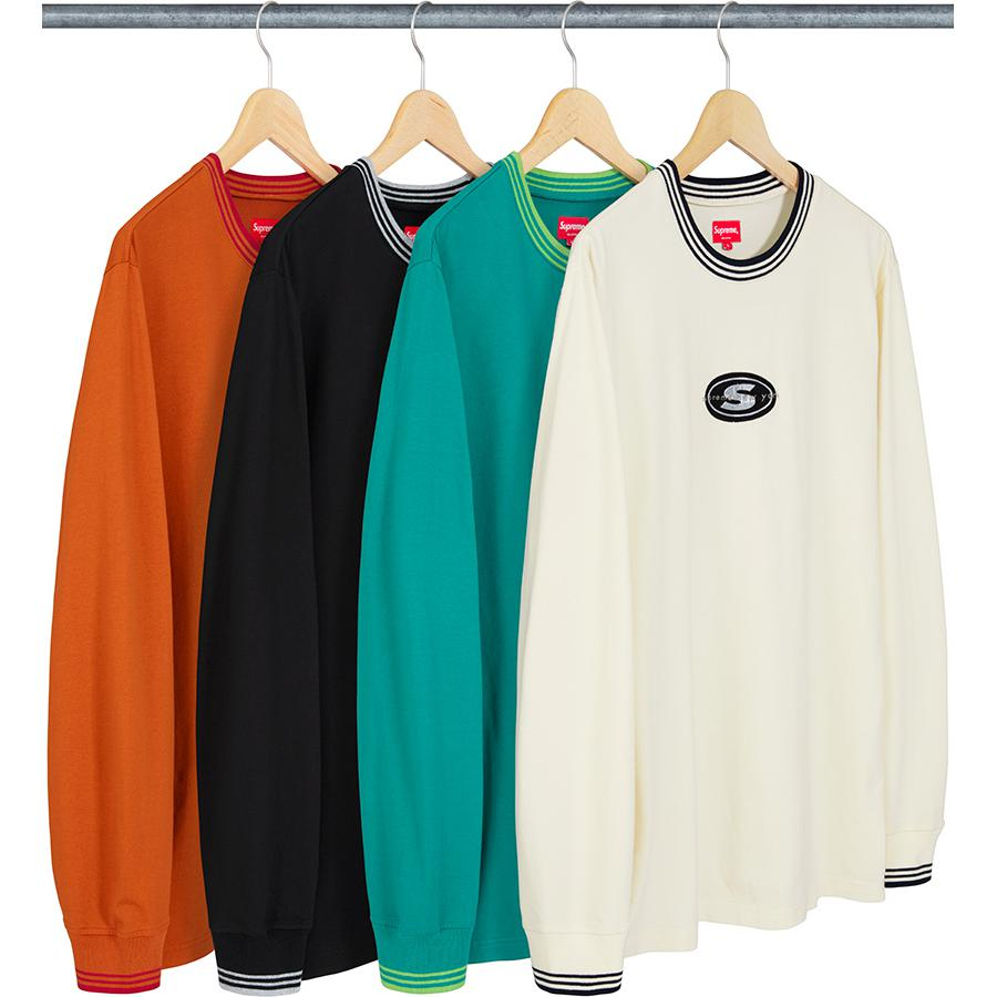 Supreme Striped Rib Logo L/S Top