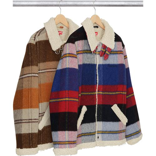 Plaid Shearling Bomber