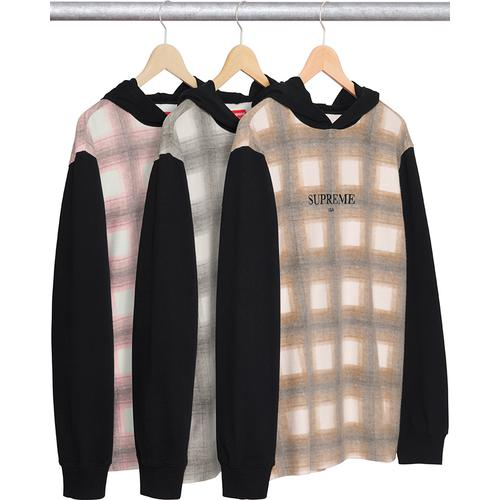 Plaid Hooded L/S Top