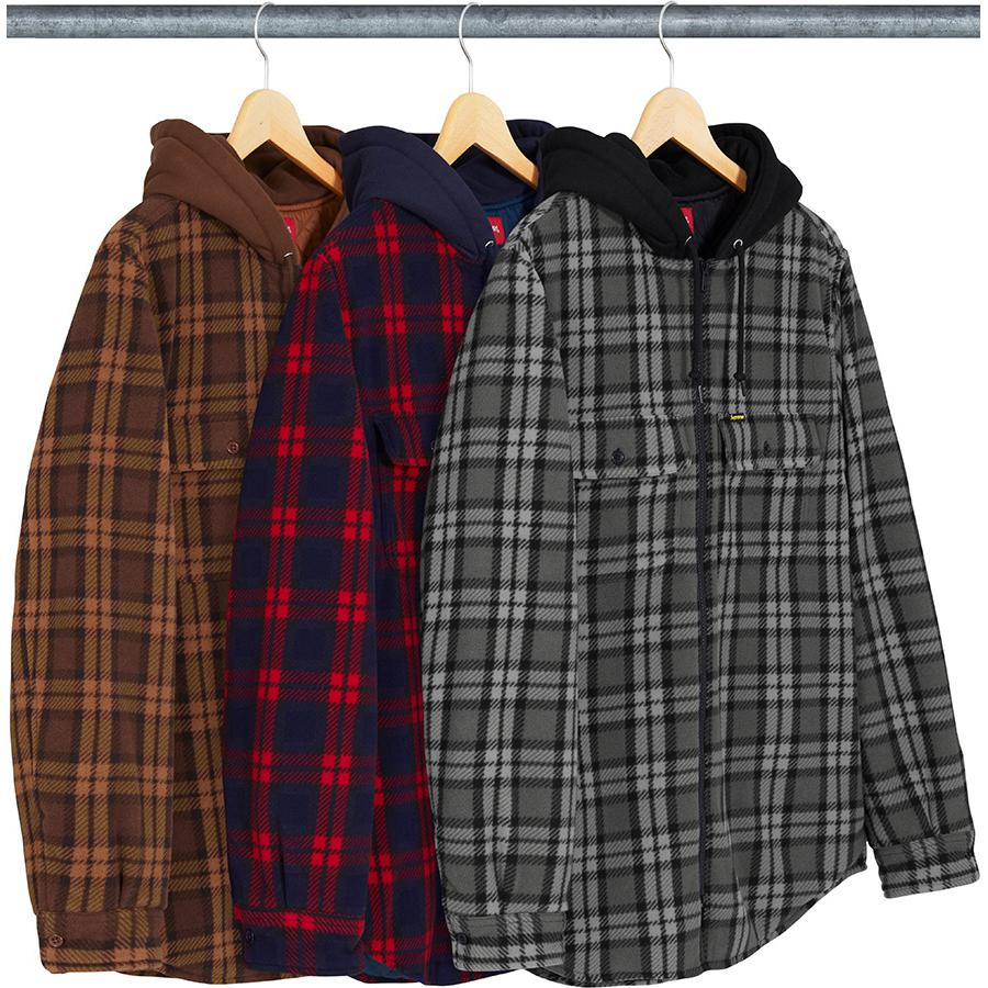 Supreme Hooded Plaid Work Shirt