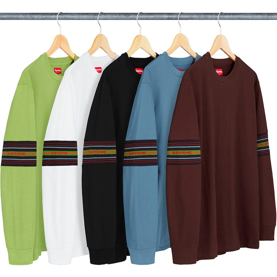 Supreme Knit Panel Stripe L/S Top