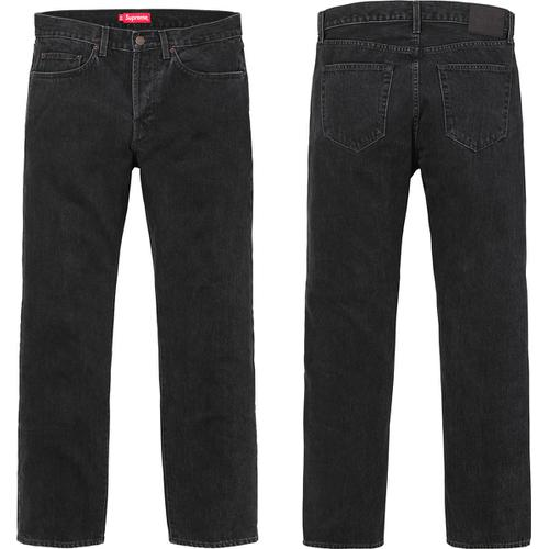 Supreme Stone Washed Black Jeans