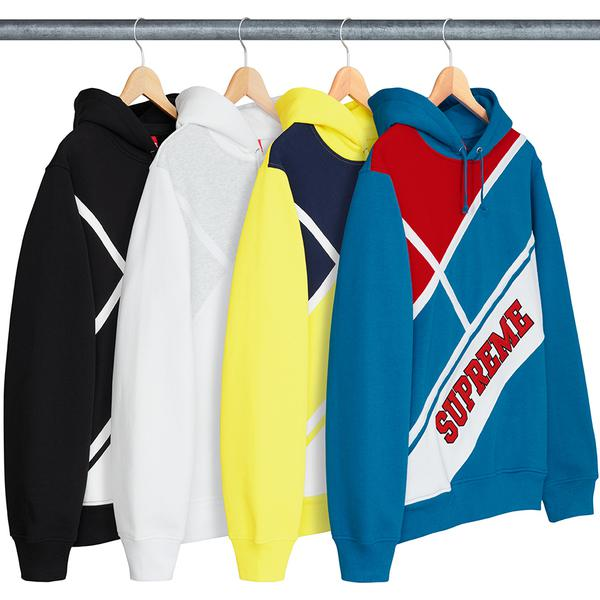 Diagonal Hooded Sweatshirt