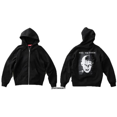 Supreme/Hellraiser Pinhead Zip Up Hooded Sweatshirt