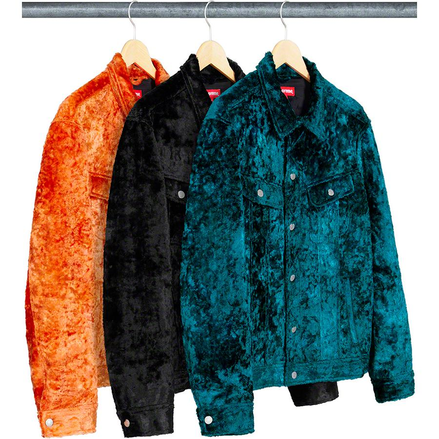 Supreme Fuzzy Pile Trucker Jacket