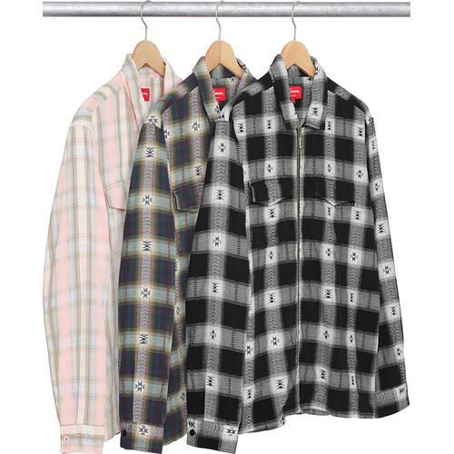Plaid Flannel Zip Up Shirt Supreme Fall/Winter 2017