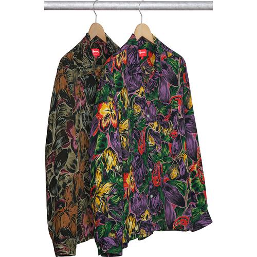 Painted Floral Rayon Shirt