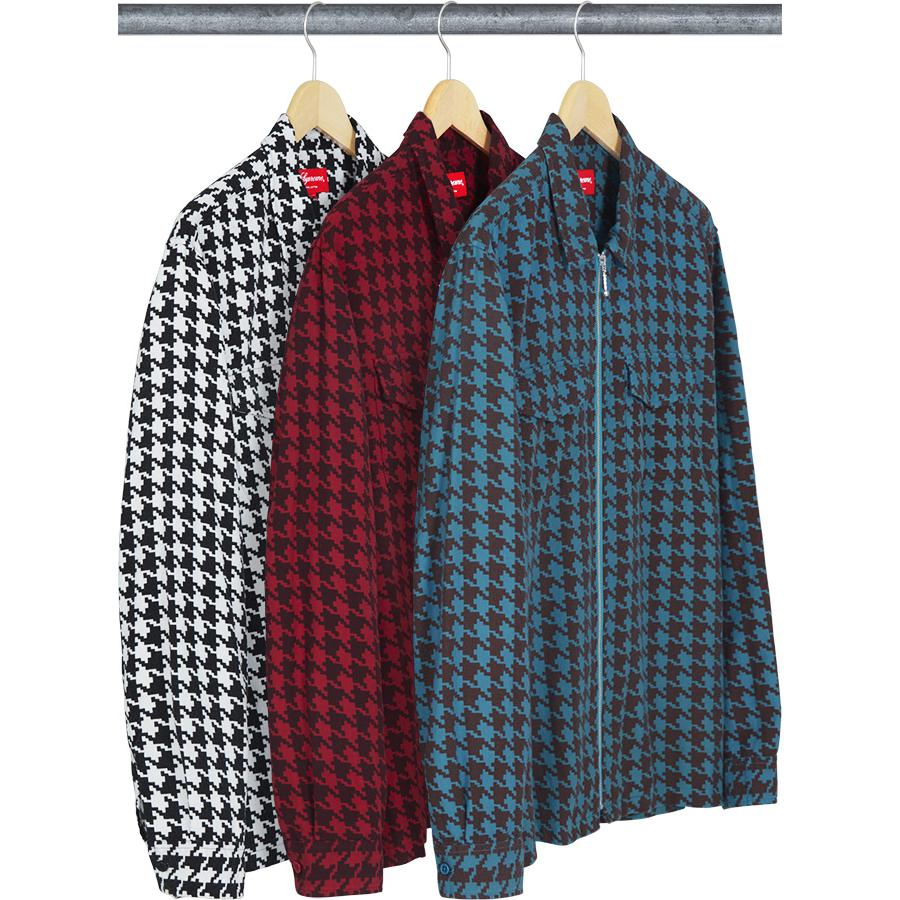 Supreme Houndstooth Flannel Zip Up Shirt