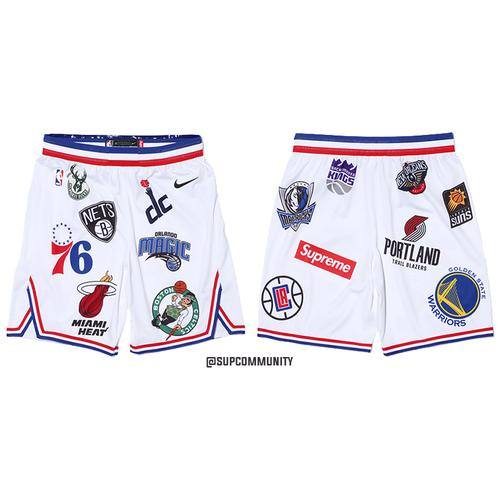 Supreme/Nike/NBA Shorts (White)