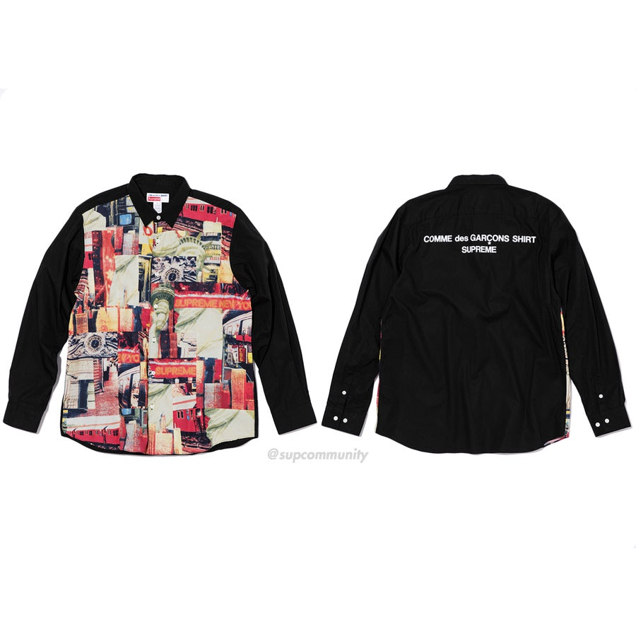 Supreme/Comme des Garçons SHIRT Cotton Patchwork Button Up Shirt