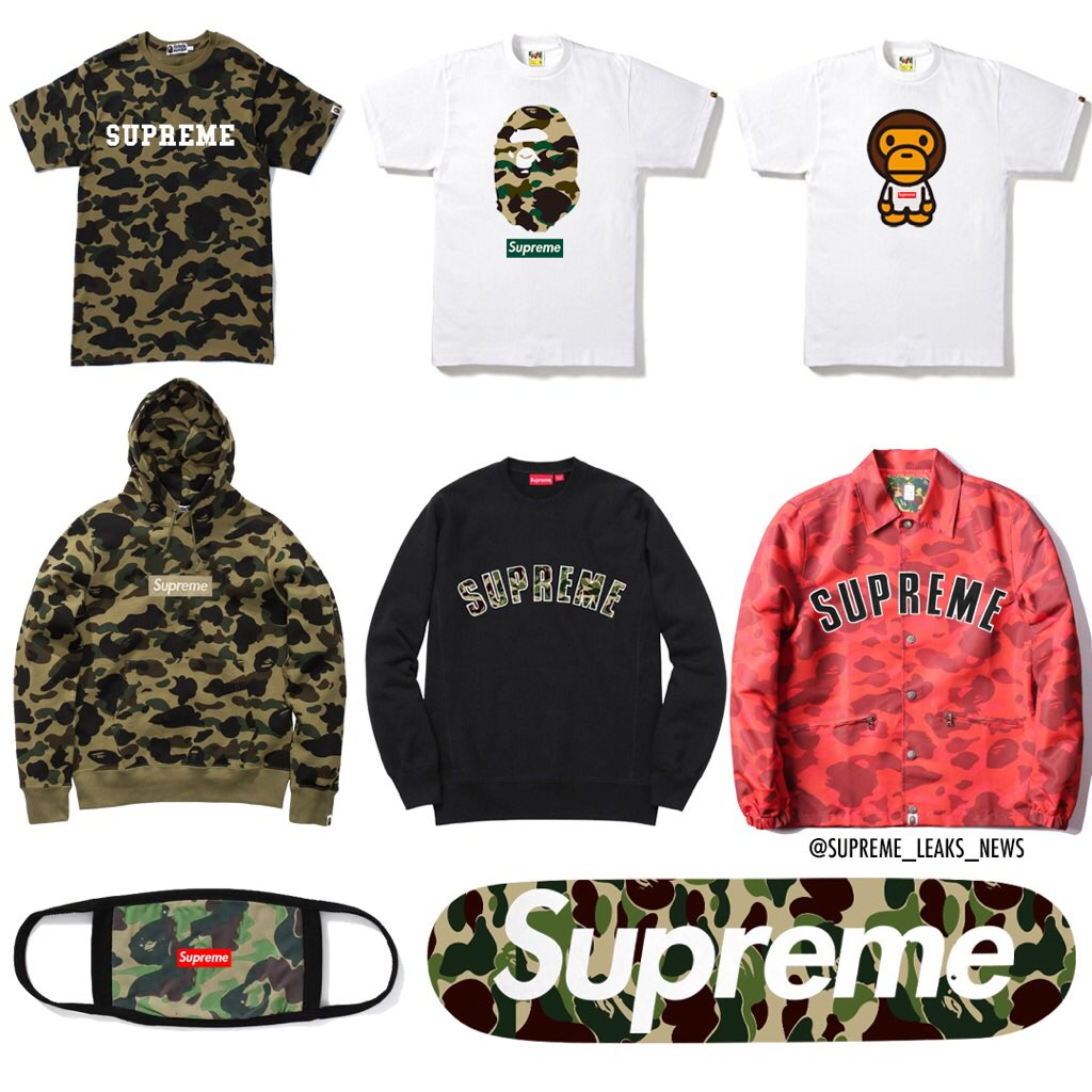 Supreme x BAPE Collaboration 2018