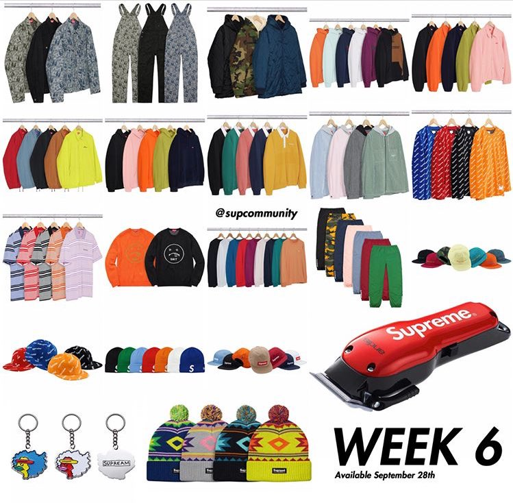 Supreme Week 6 Droplist