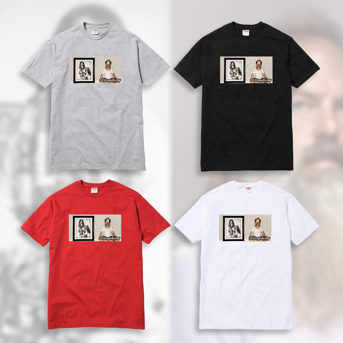 Supreme x Rick Rubin Spring / Summer 2018 (SS18) Photo Tee