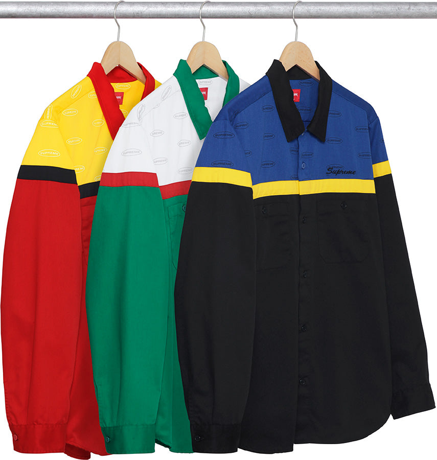Color Blocked Work Shirt Supreme
