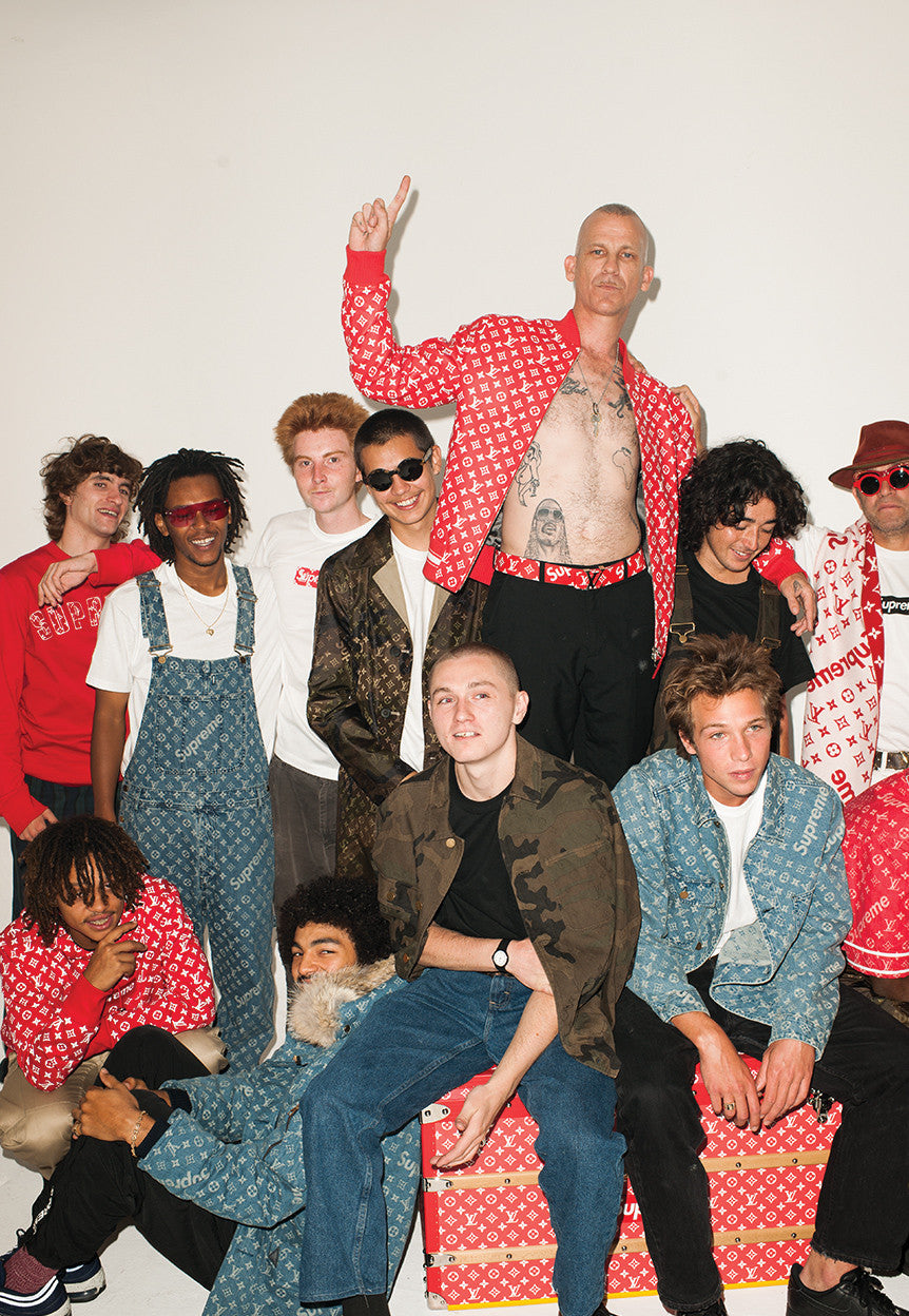 Supreme Team Main Lookbook Image Supreme x Louis Vuitton