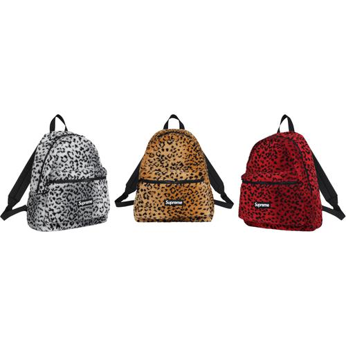 Leopard Fleece Backpack