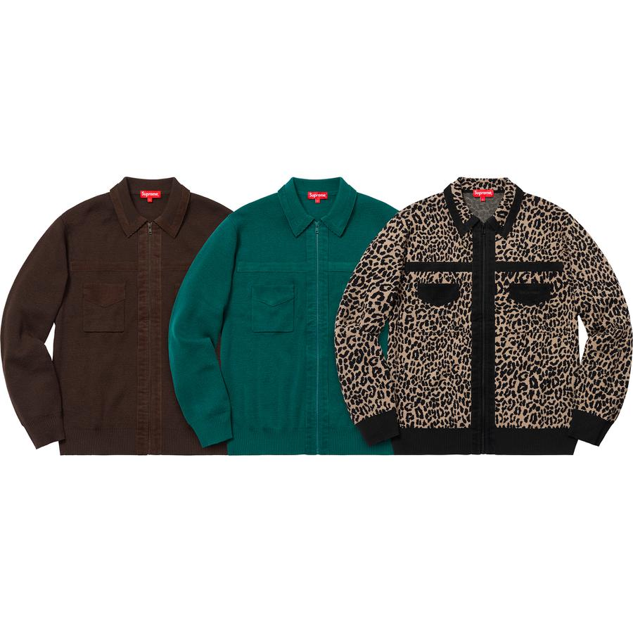 Supreme Corduroy Detailed Zip Sweater