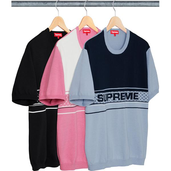 Chest Logo S/S Knit Top