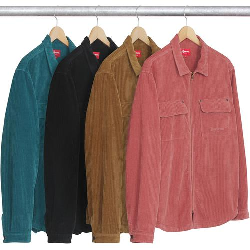 Corduroy Zip Up Shirt
