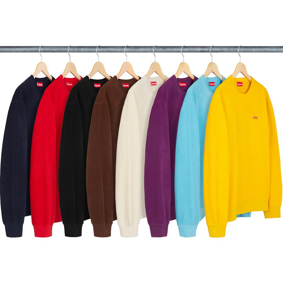 Supreme Polartec Small Box Crewneck Sweatshirt