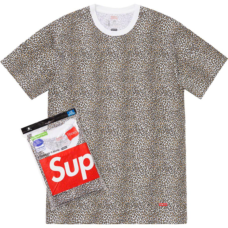 Supreme/Hanes Leopard Tagless Tees (2 Pack)