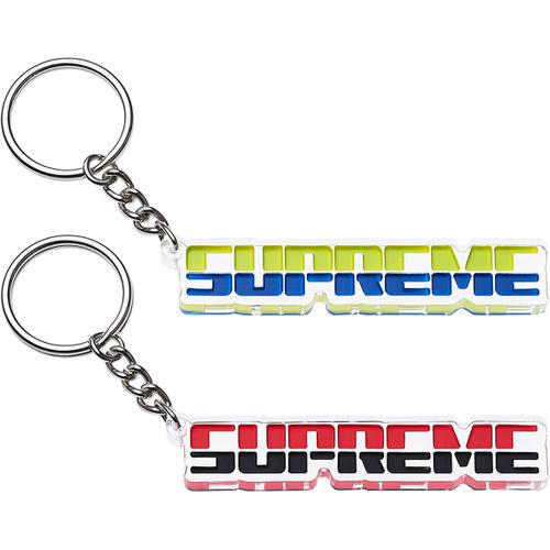 Supreme embossed keychain