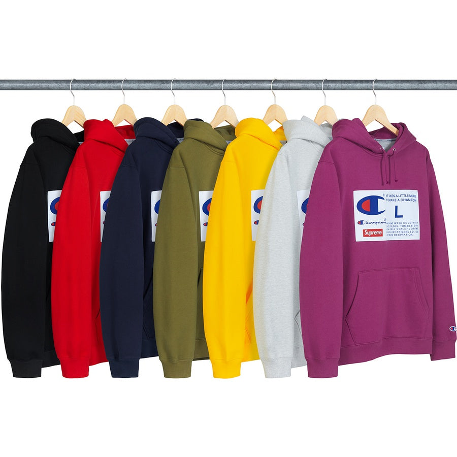 Supreme/Champion Label Hooded Sweatshirt