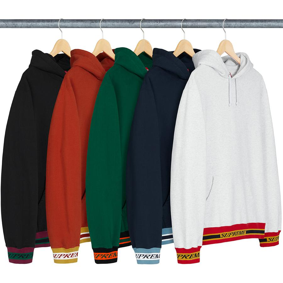 Supreme Striped Rib Hooded Sweatshirt