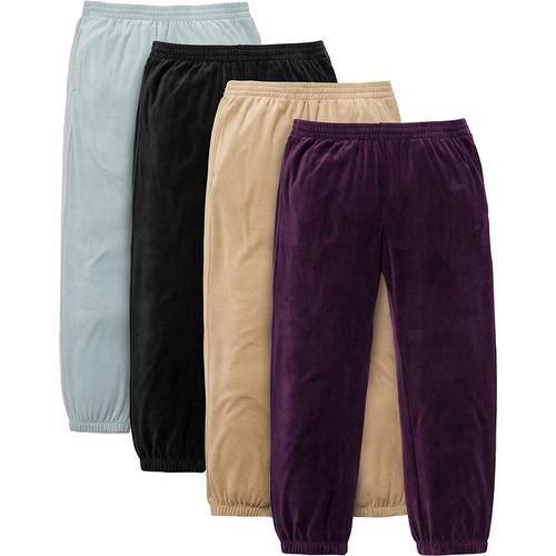 Velour Warm Up Pant