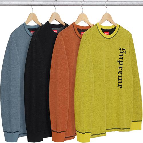 reverse terry l/s