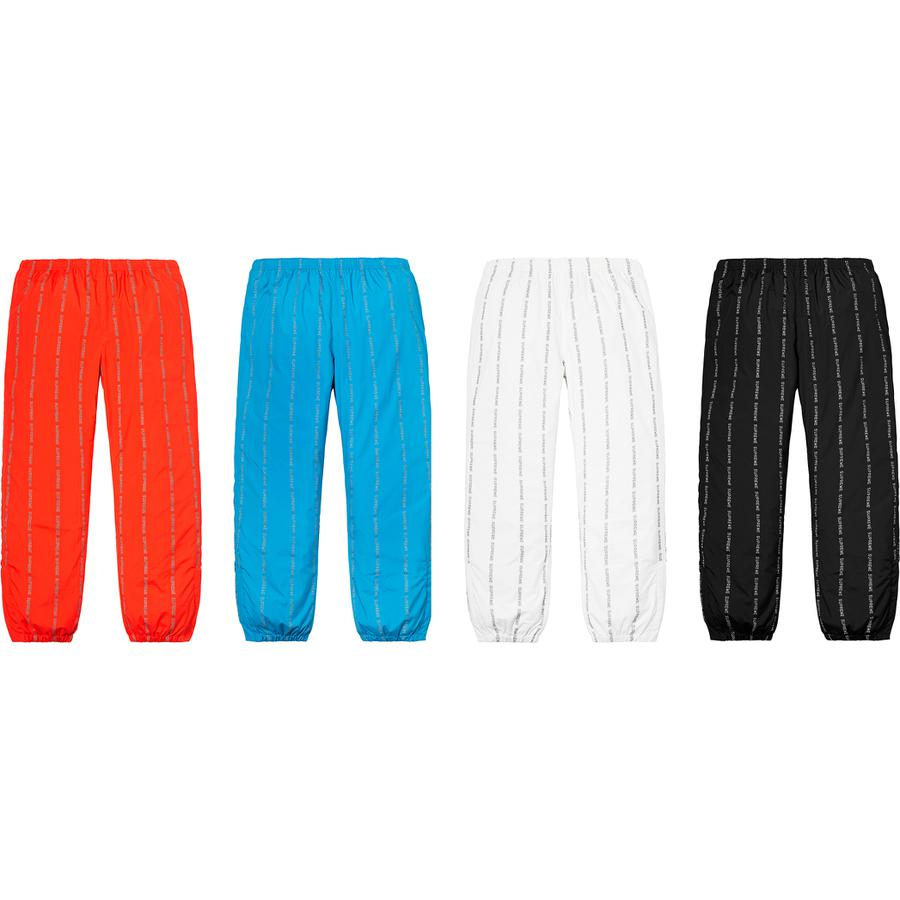 Supreme Reflective Text Track Pant