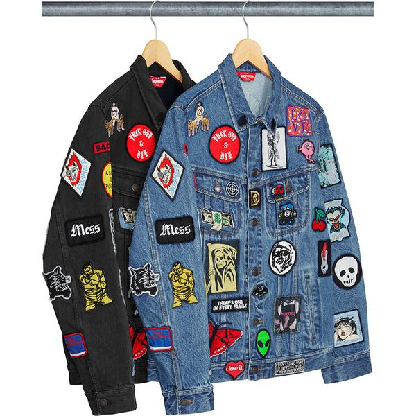Supreme Patches Denim Trucker Jacket