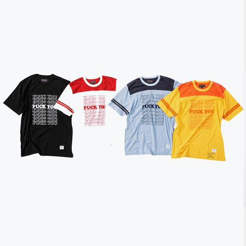 Supreme/HYSTERIC GLAMOUR Fuck You Football Tee