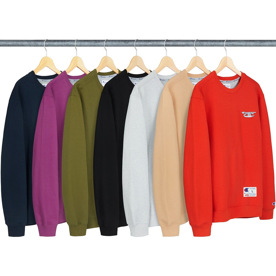 Supreme/Champion 3D Metallic Crewneck