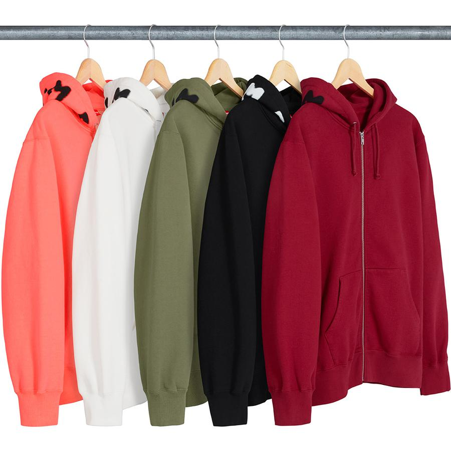 Supreme Bone Zip Up Sweatshirt